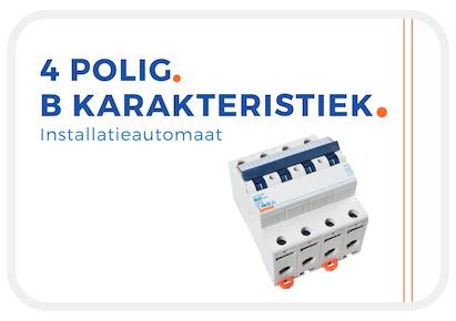 Van de 4 polige installatieautomaten is dit de B Karakteristiek, Wil je een 4 polige B Karakteristiek? Klik dan op deze afbeelding!