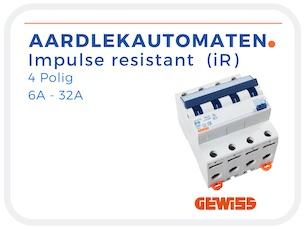 Aardlekautomaat impulse resistant