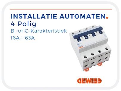 4 Polige Installatie Automaten