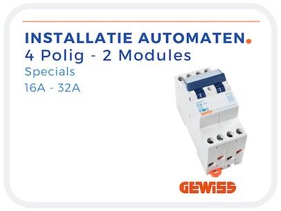 4 Polige installatieautomaten 2 modules